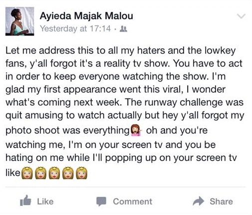 Ayieda's post