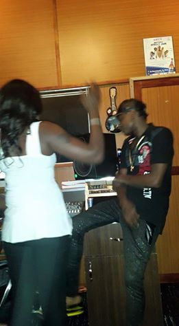 Mary with Chameleone in studio
