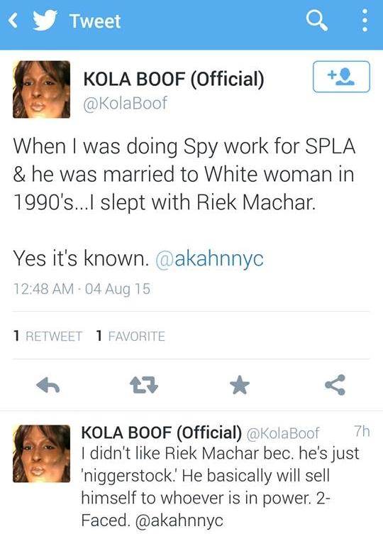 Kola Boof tweet