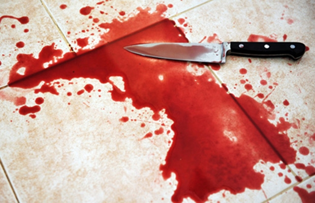 knife with blood in Yei