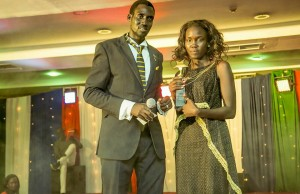 Winner, Nyibol Grace receive award from STA boss