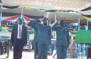 Salva Kiir in police uniform
