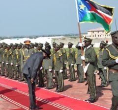 Kiir at SPLA command council