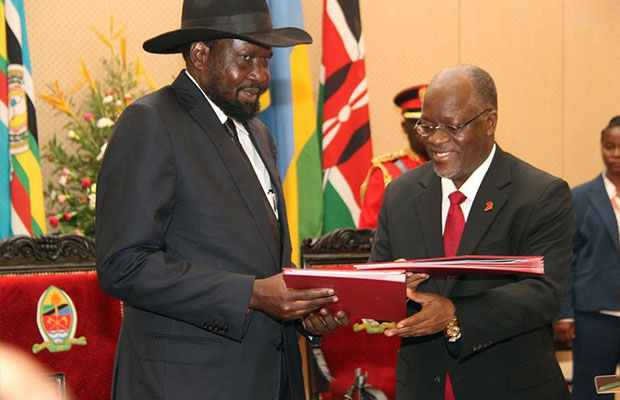 Salva Kiir and Magafuli