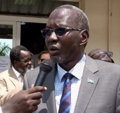 Minister of Finance, Stephen Dhieu
