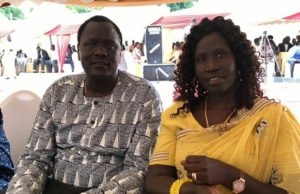 Ezekiel Lol with his wife Rachel Nyahok