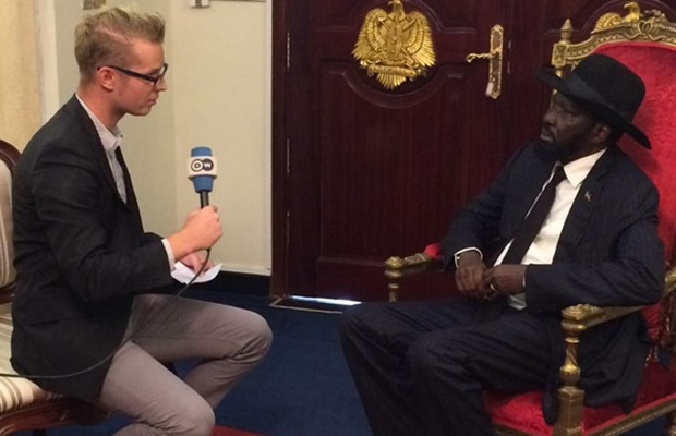 President Salva Kiir talks to DW Adrian Kriesch