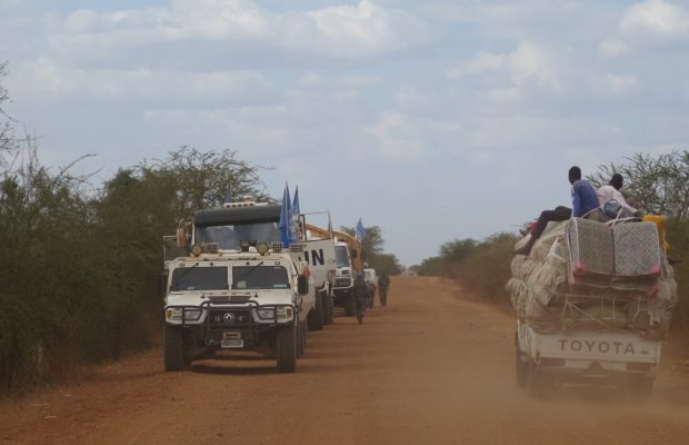 UNMISS on Juba-Bor road