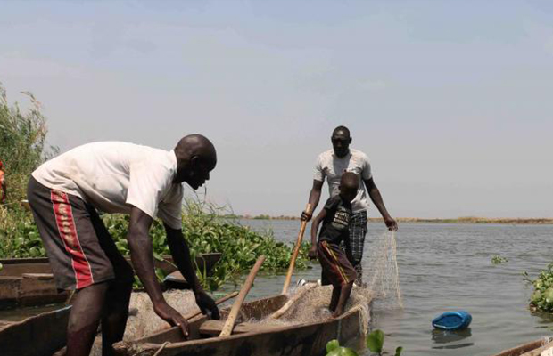 fishing in South Sudan
