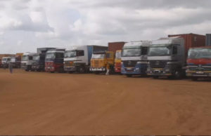 trucks at Nimule