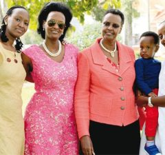 Janet Museveni and daughters