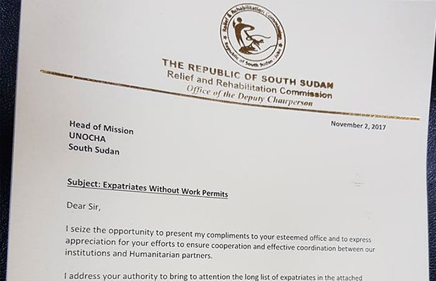 Work permit in South Sudan