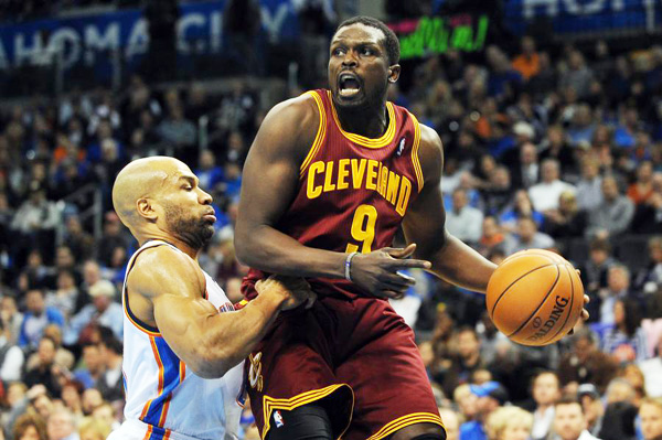 Luol Deng with Cleveland