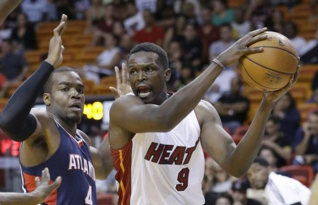 Luol Deng with Heat