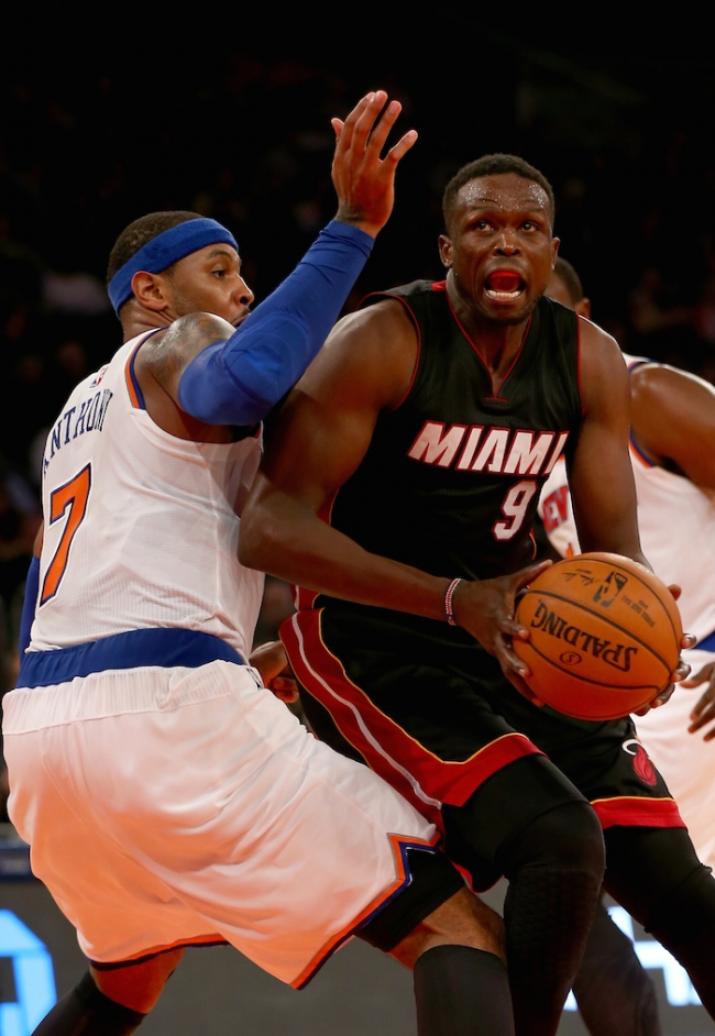 Luol Deng with Miami Heat