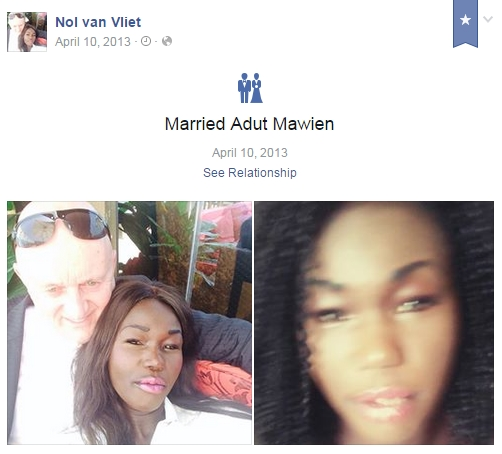 Adut and Nol married on Facbook