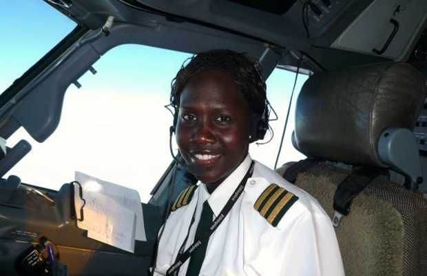 First female South Sudanese pilot Aluel Bol becomes a captain at Delta Airlines.