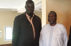 Agel Machar with Riek Machar