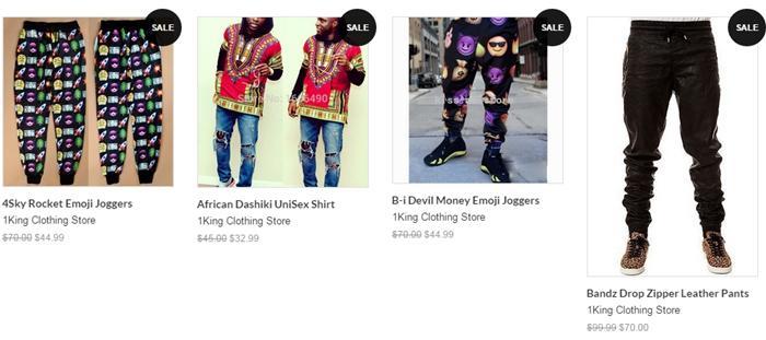 Sales on website
