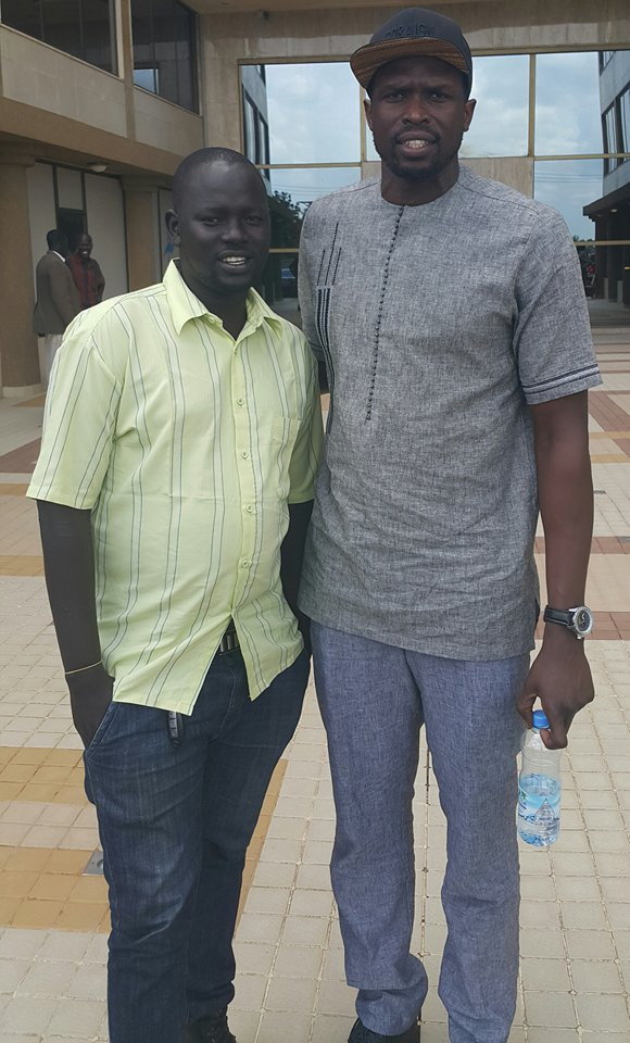 Luol and Promoter K-Two at Crown Hotel recently