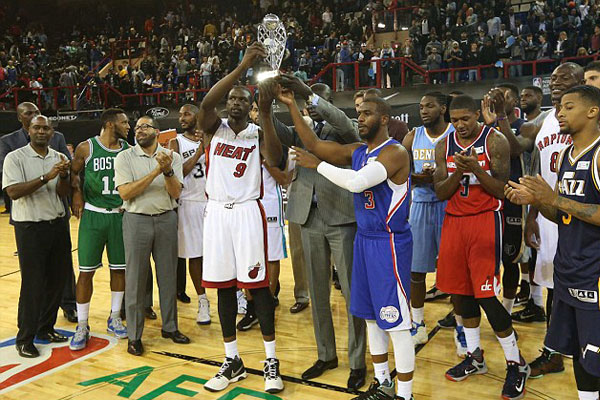 Luol Deng honored MVP at the First NBA Africa game