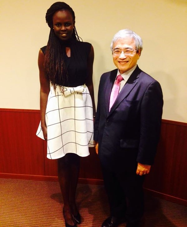 Atong Demach with Japanese VP