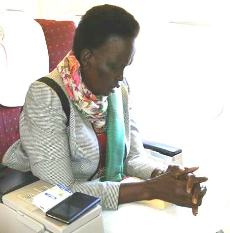 Mama Rebecca Nyandeng in serious prayers. Find out why. [PICS]