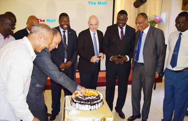 FIFA president celebrates 45th birthday in Juba