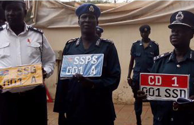South Sudan Police to nationalise license plates