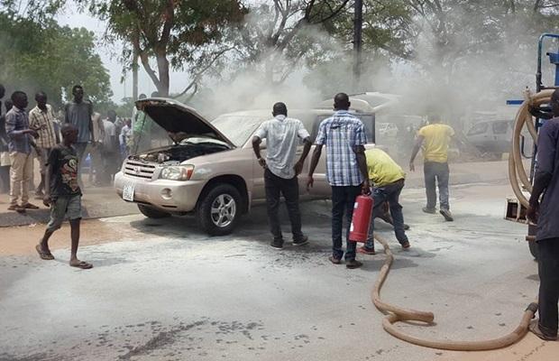 car burst