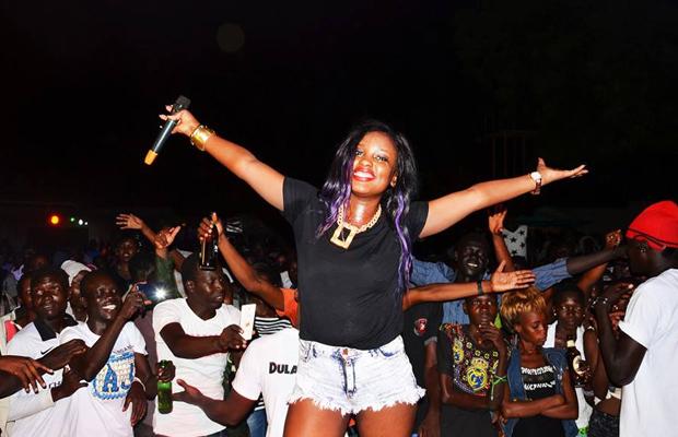 Ugandan singer Leila Kayondo thrills fans in Juba (Photos)