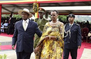 Museveni and wife