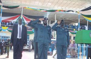 Salva Kiir in police uniform