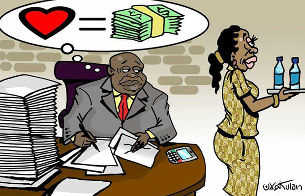 Ecomomic in South-Sudan Cartoon