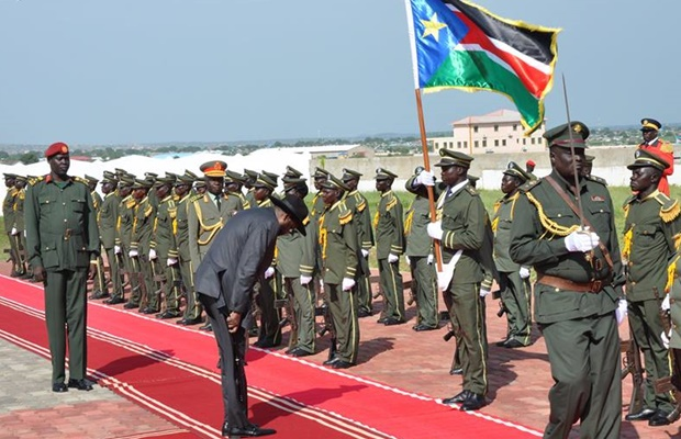 Kiir at SPLA command council