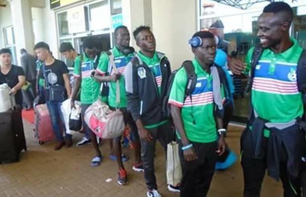 Bright Stars arrive in Kampala ahead of Saturday's CHAN qualifier against Uganda