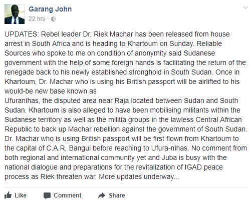Garang John's post