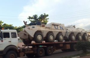 UN armoured vehicles in Juba