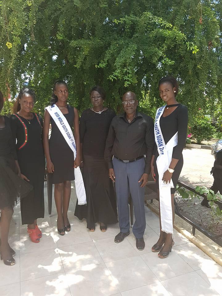 Malong and Miss World South Sudan