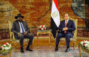 President-of-South-Sudan-Salva-Kiir-Mayardit-L-is-welcomed-by-Egyptian-President-Abdel-Fattah-el-Sisi-
