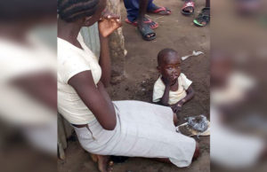 woman child buried