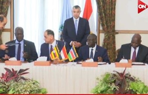 The signing of SPLM Declaration of Unification in the Egyptian General Intelligence headquarters