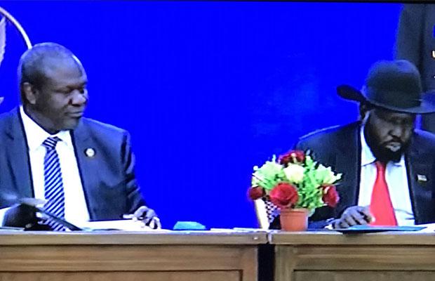 Kiir, Machar, opposition sign final peace deal
