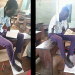 Astonishing South Sudanese student who lost arms, writes with his foot