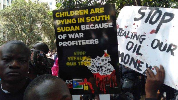 PHOTOS: Kenyans protest against corrupt South Sudanese officials