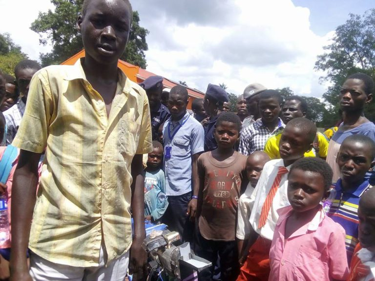 A teen in Yambio invents a grinding mill