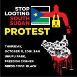 Kenyans protest against Corrupt South Sudan politicians in Nairobi