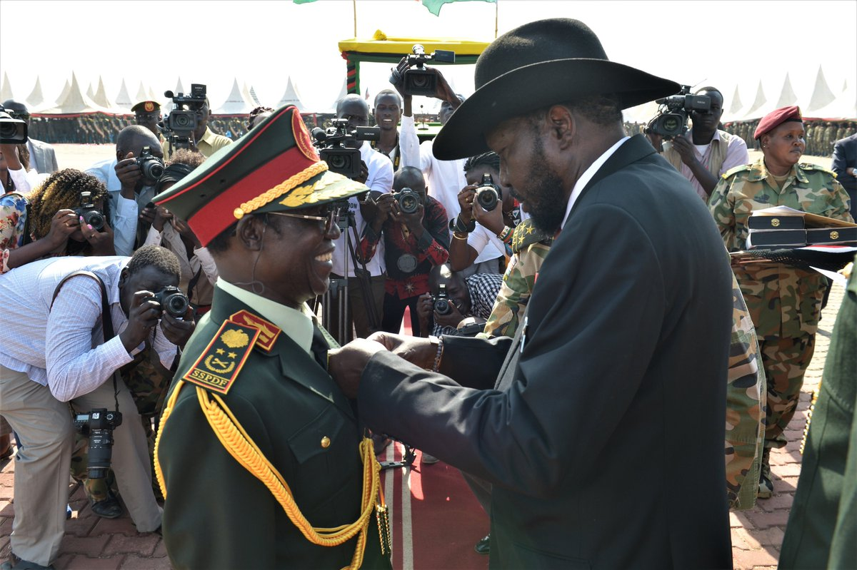 President Kiir awards Wani Igga, others medals for heroic role in S.Sudan struggle