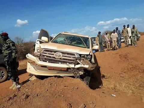 President Kiir convoy had an accident