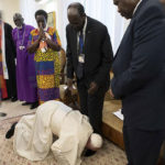 What can happen when a Pope kisses your feet?